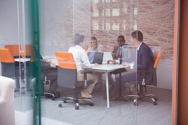young business people group have meeting and working in modern bright office indoor-4